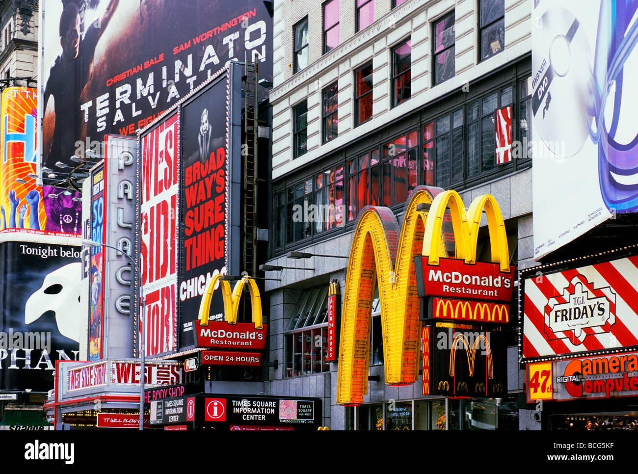 New York City Broadway and Times Square Billboards and Advertisements USA - Stock Image