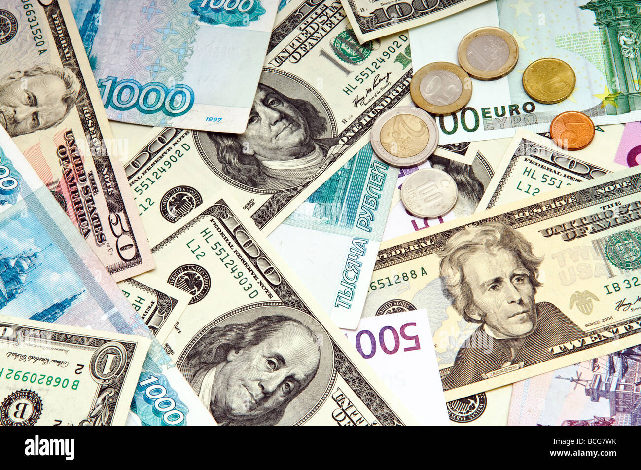 foreign currency background - Stock Image