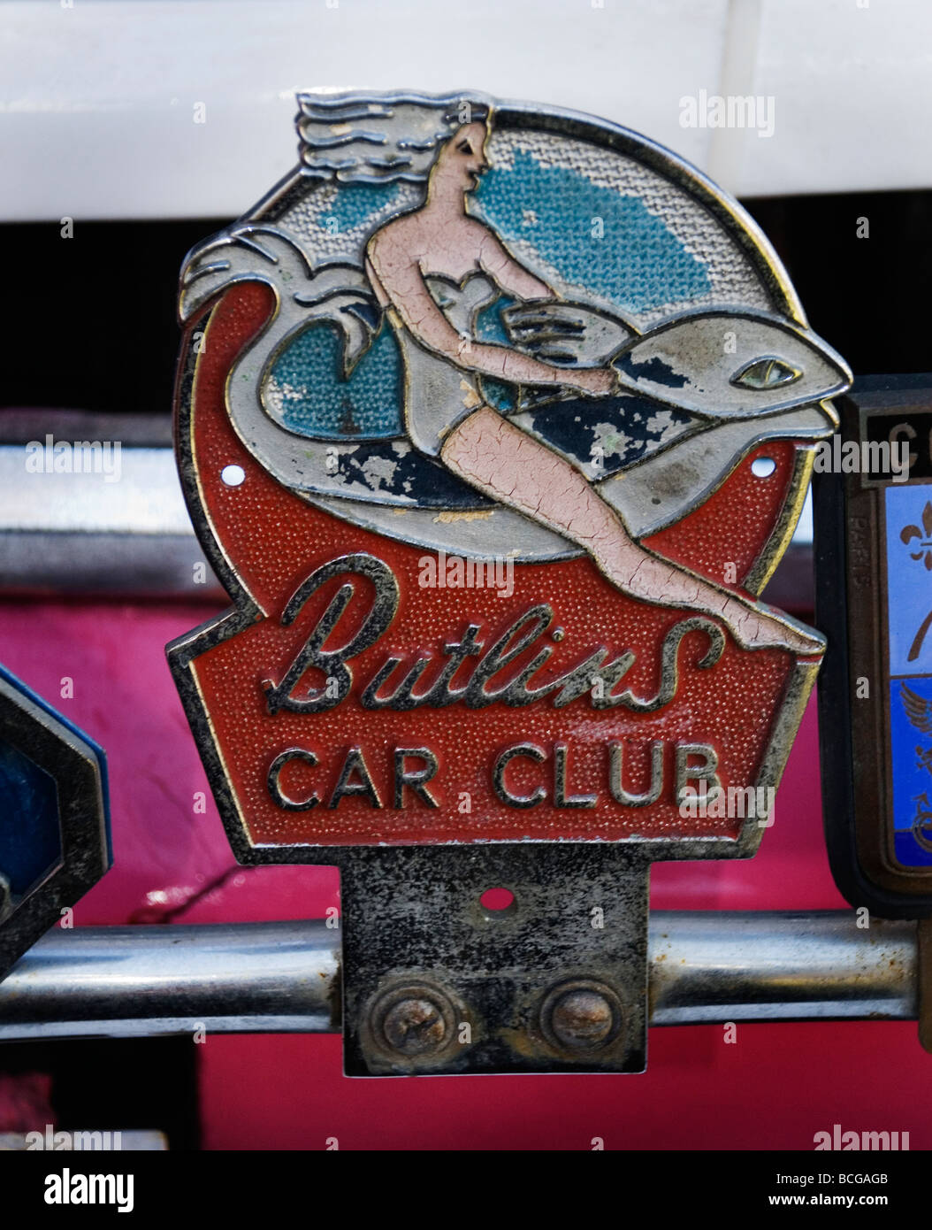 Butlins car club badge - Stock Image