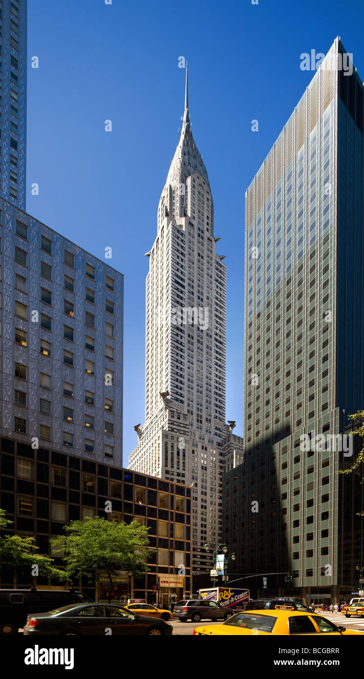 Chrysler Building in New York City - Stock Image