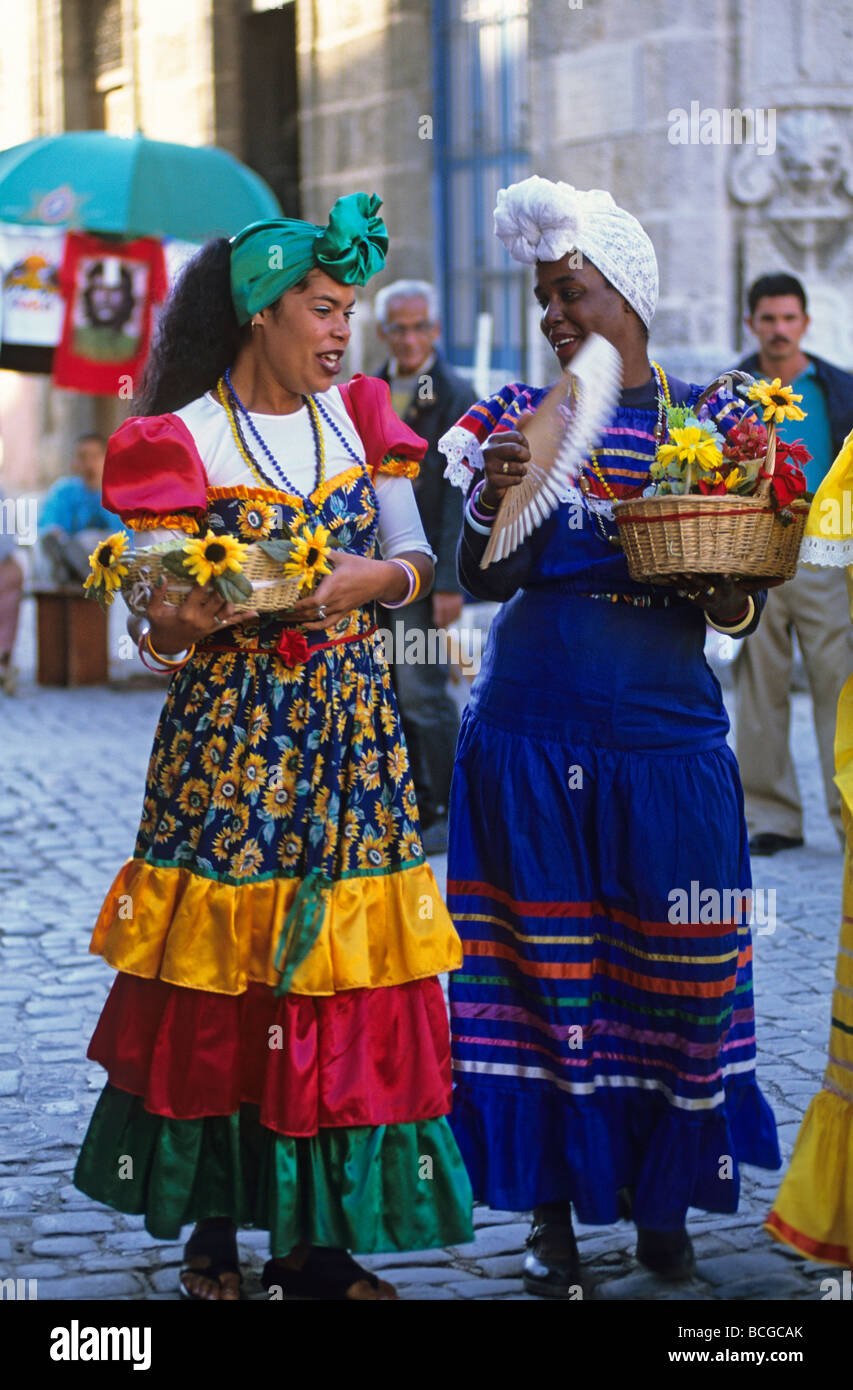 Cuban Woman Wearing Traditional Costume Stock Photos Entertainers Local Havana