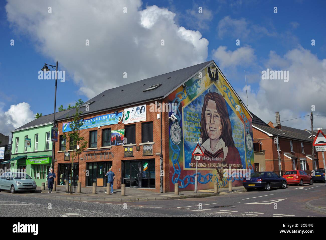 Sinn Fein headquareters in Belfast - Stock Image