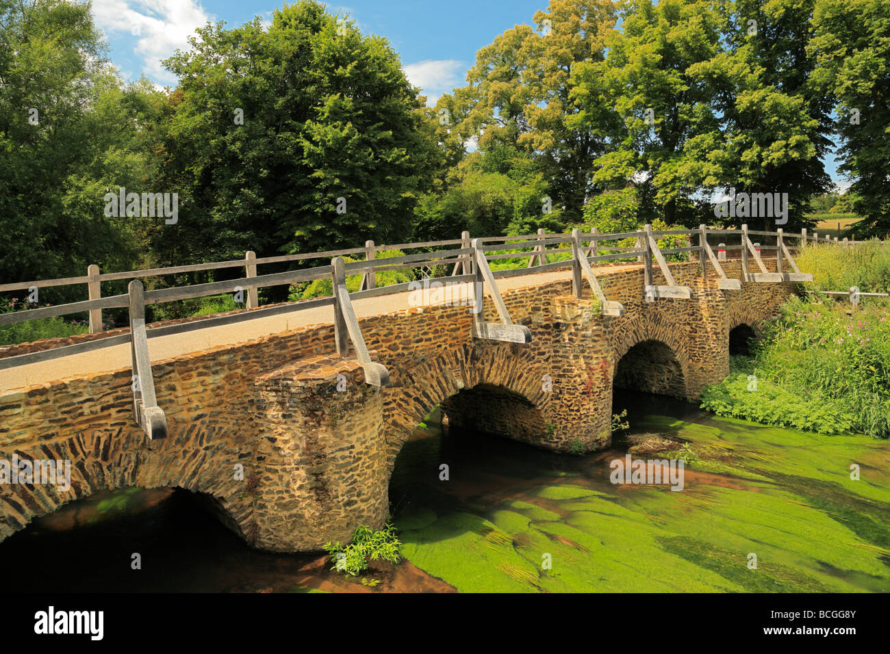 Tilford West Bridge. Surrey, England, UK. - Stock Image