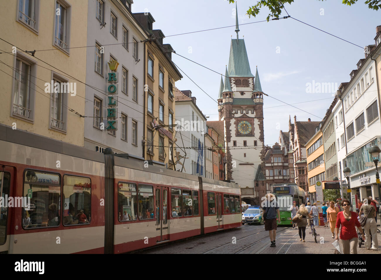 freiburg im breisgau germany eu looking towards martinstor in the stock photo 24950297 alamy. Black Bedroom Furniture Sets. Home Design Ideas