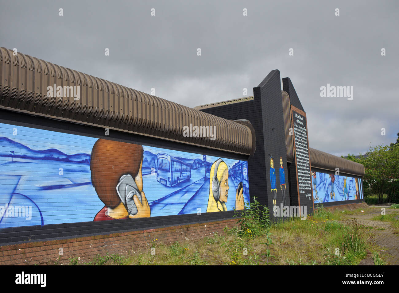 Some of the Shankill Murals in Belfast - Stock Image