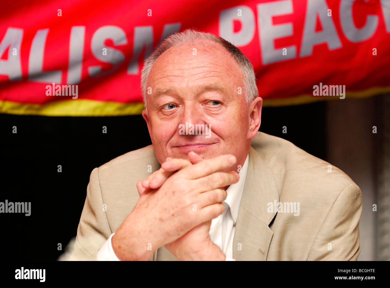 Former GLC Leader and London Mayor Ken Livingstone speaking at South West Surrey Labour Party summer dinner, Headley, - Stock Image