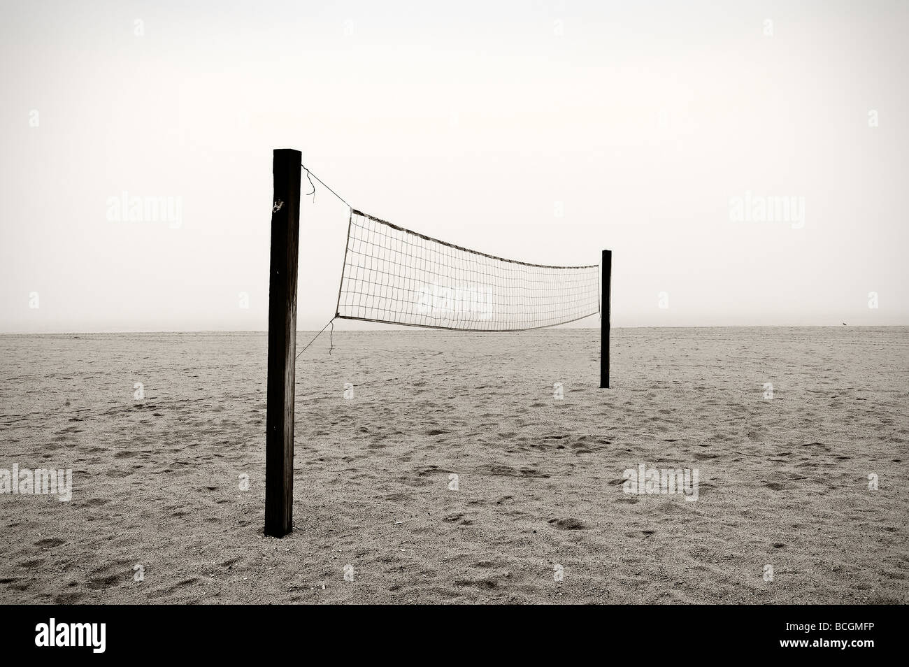 Beach volleyball net - Stock Image