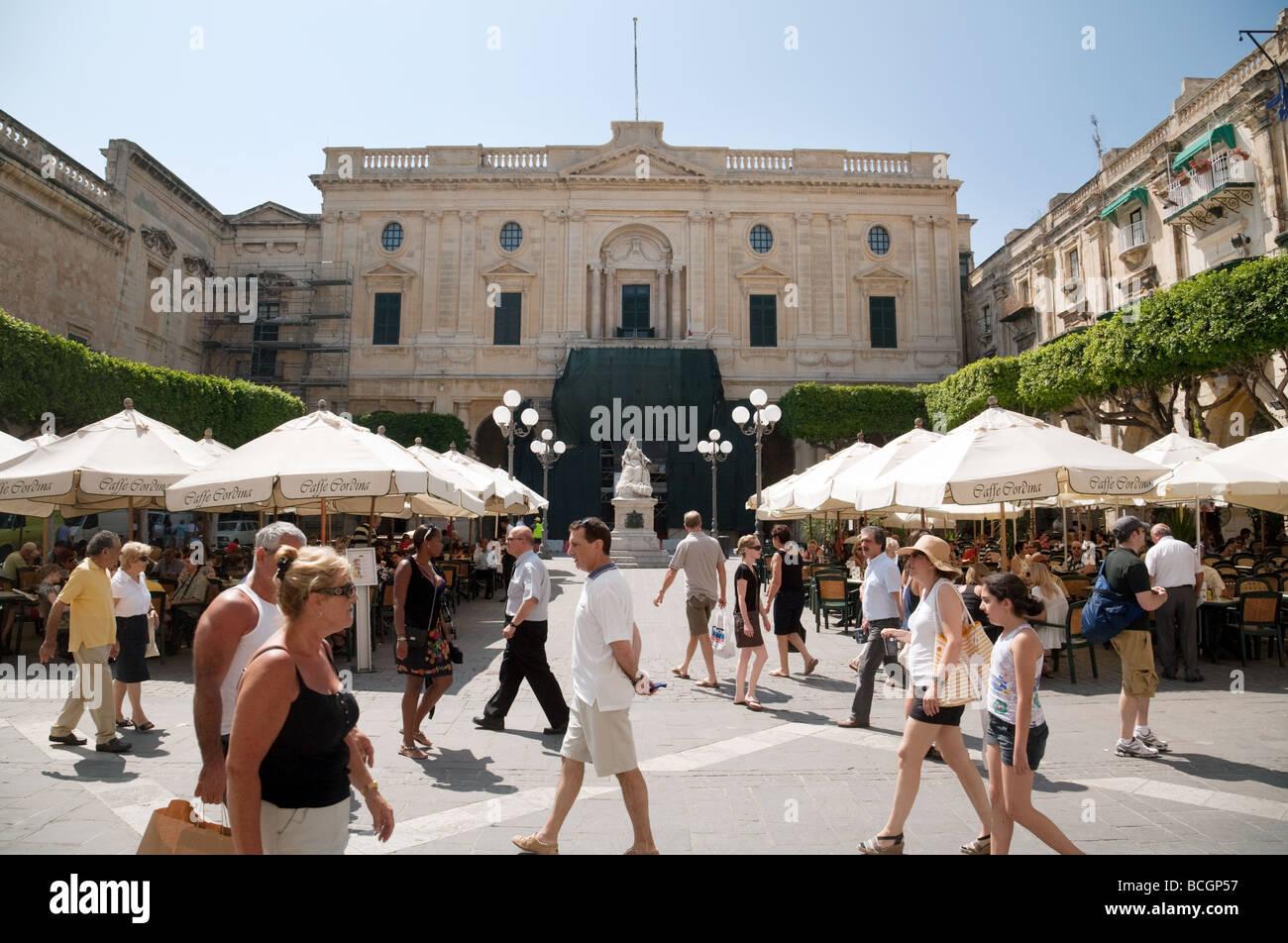 Republic Square, Valletta, Malta - Stock Image