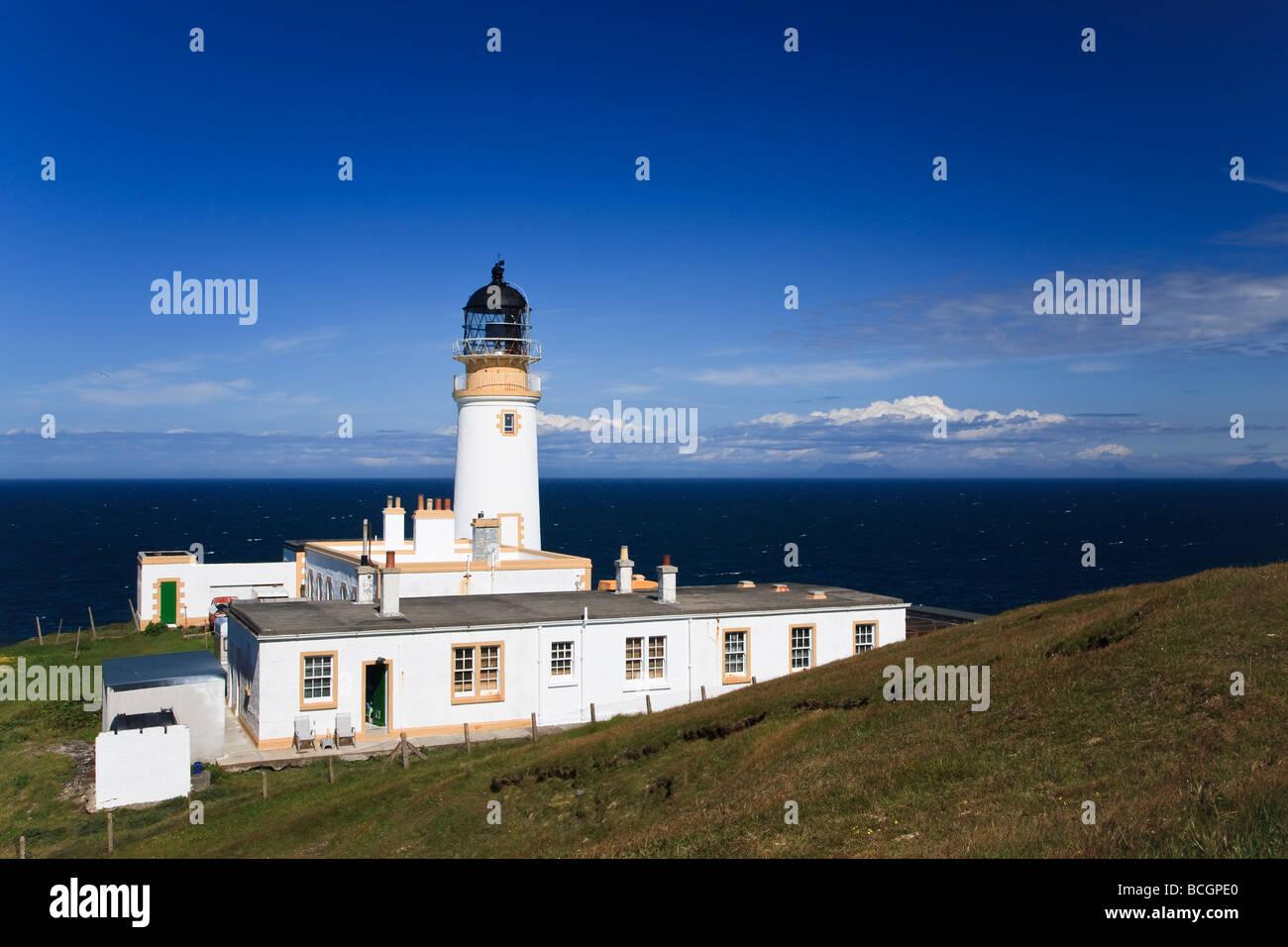 Tiumpan Head lighthouse Isle of Lewis, Outer Hebrides, western isles, Scotland, UK 2009 - Stock Image