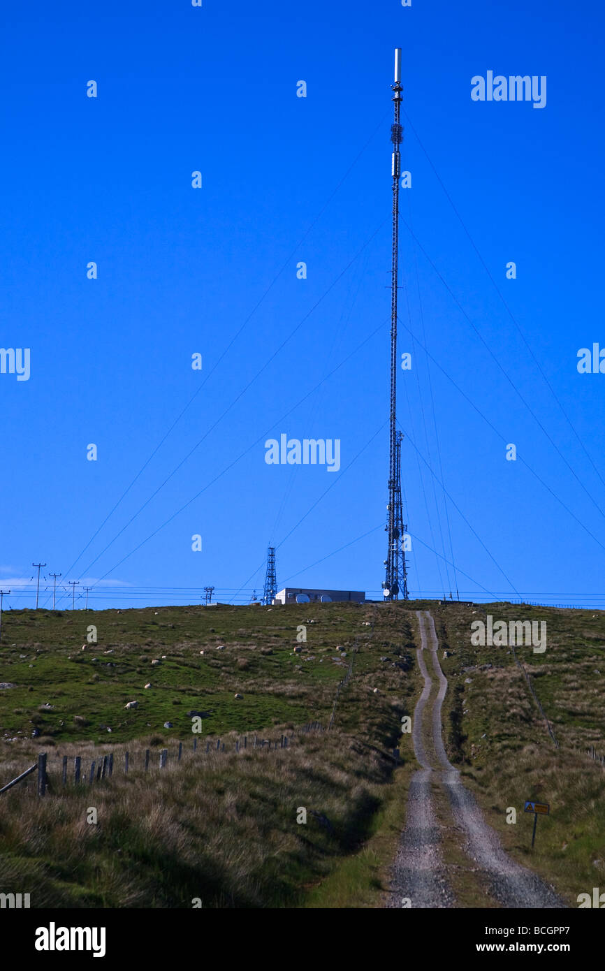Transmitter station at Acha Mor Isle of Lewis, Outer Hebrides, western isles, Scotland, UK 2009 - Stock Image
