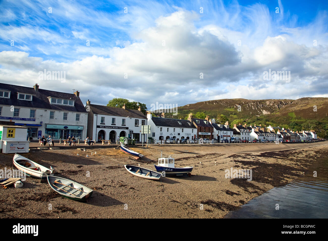 Fishing boats in Ullapool harbour Western Highlands Scotland UK 2009 - Stock Image