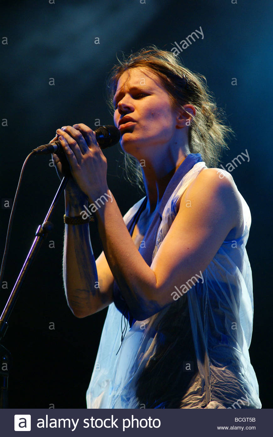 French singer Camille performing live Stock Photo
