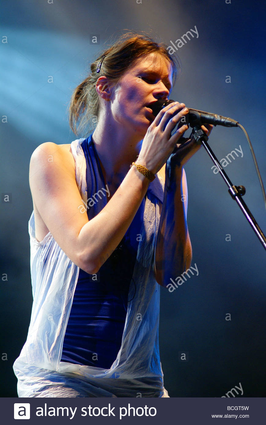 French singer Camille performing live - Stock Image