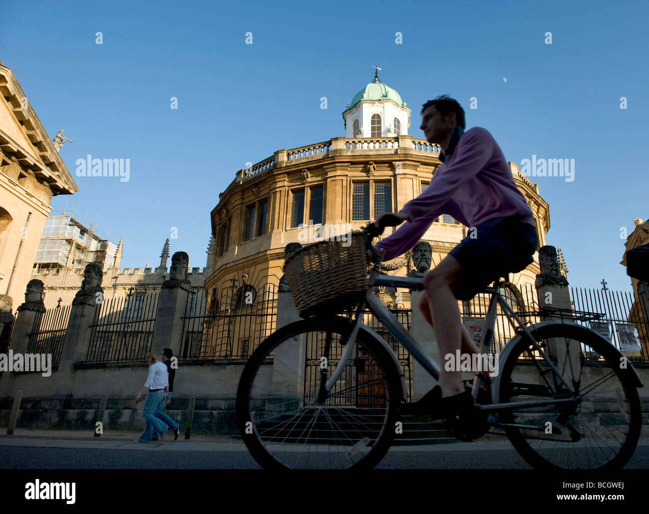 The Sheldonian Theatre in Oxford is where ceremonies and meetings and events take place for the University -a Wren Stock Photo