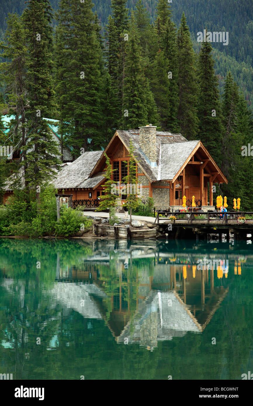 Canada BC Yoho National Park Emerald Lake Lodge - Stock Image