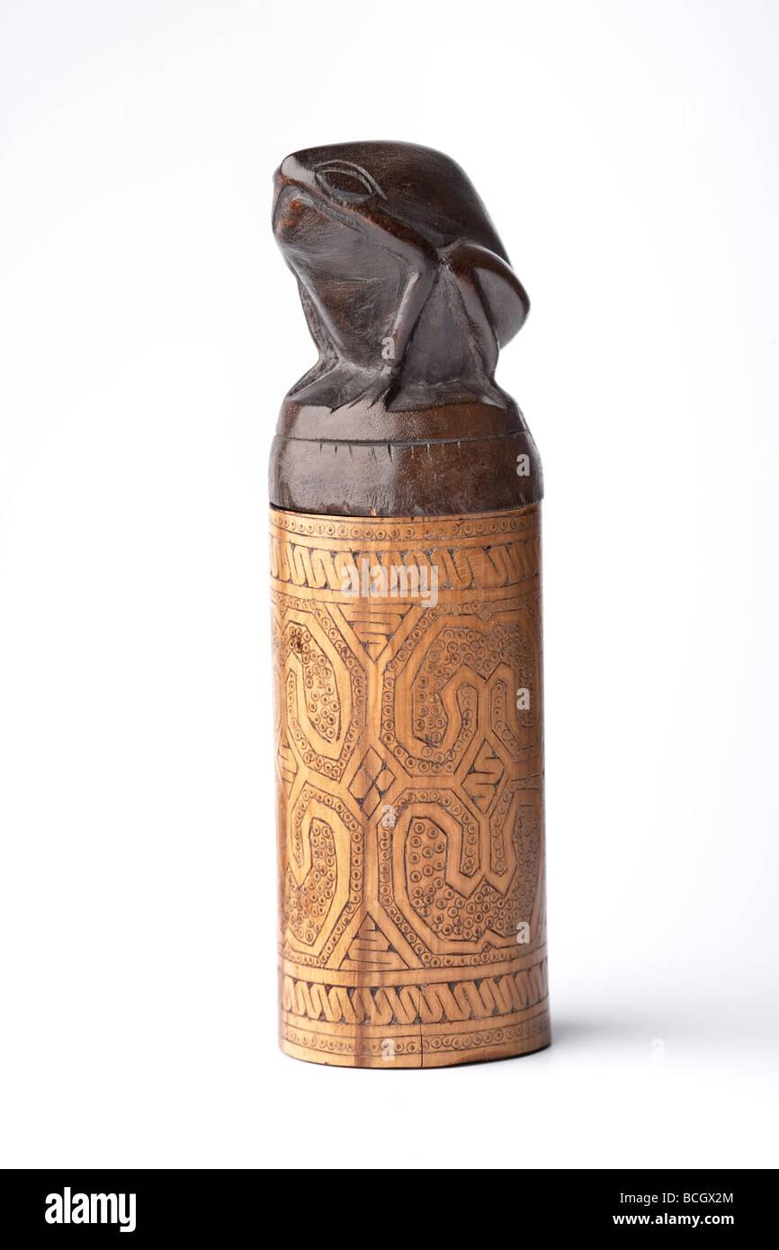 Souvenir from Indonesia, medicine box - Stock Image