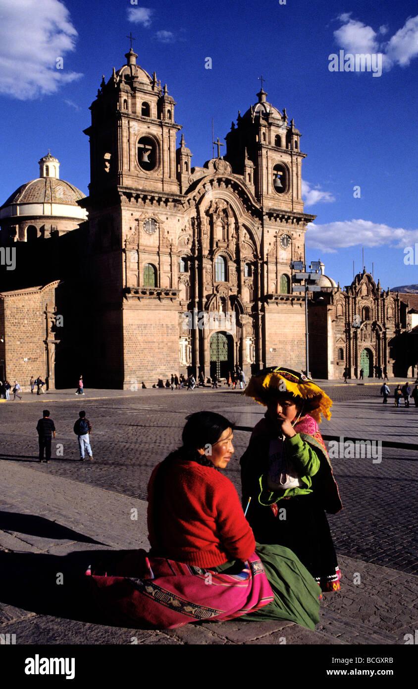 Iglesia de la Compañía de Jesús.Plaza de Armas. Cuzco. Perú. - Stock Image