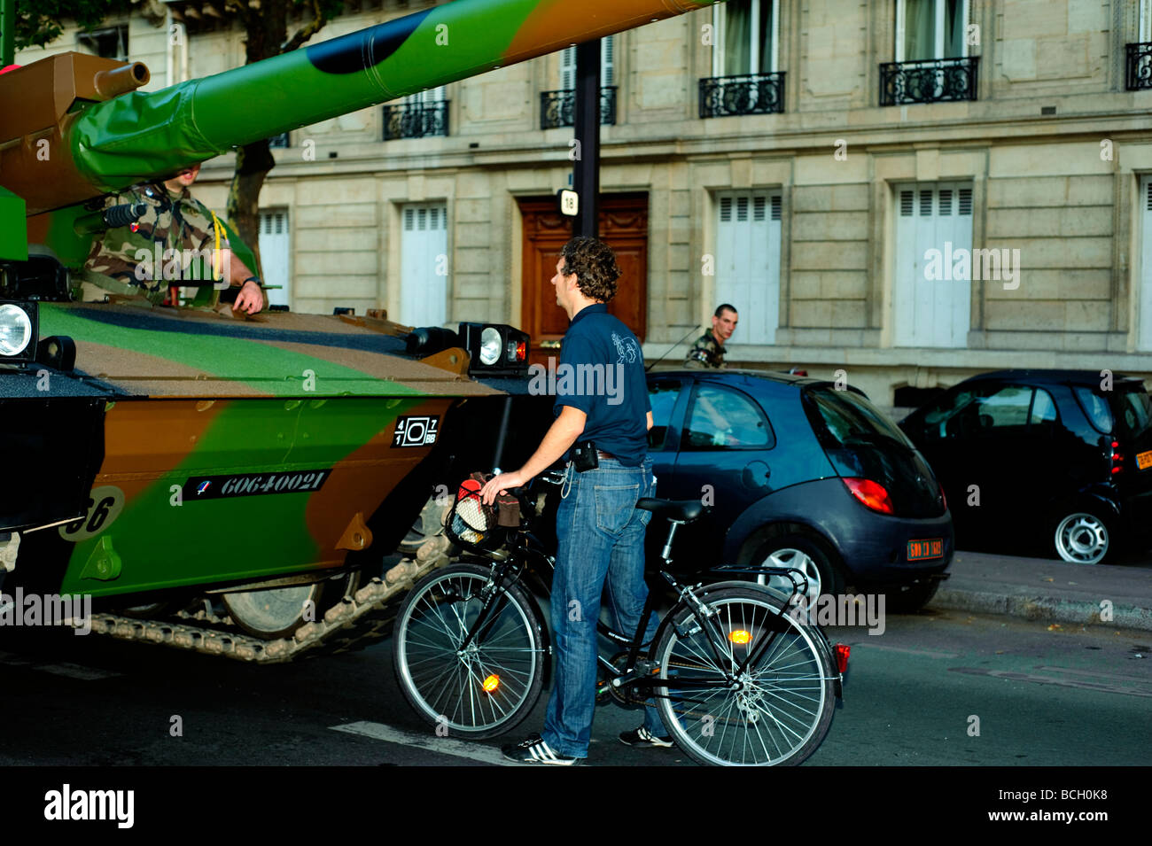 Paris France, Public  Events 'Bastille Day' Celebration '14th of July' Military Parade, French Army - Stock Image