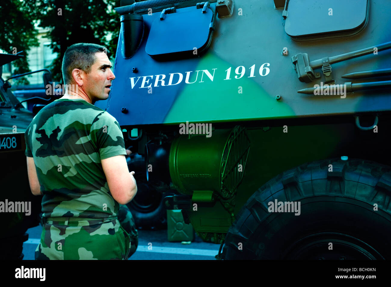 Paris France, Public  Events 'Bastille Day' Celebration '14th of July' Military Parade on the 'Champs - Stock Image
