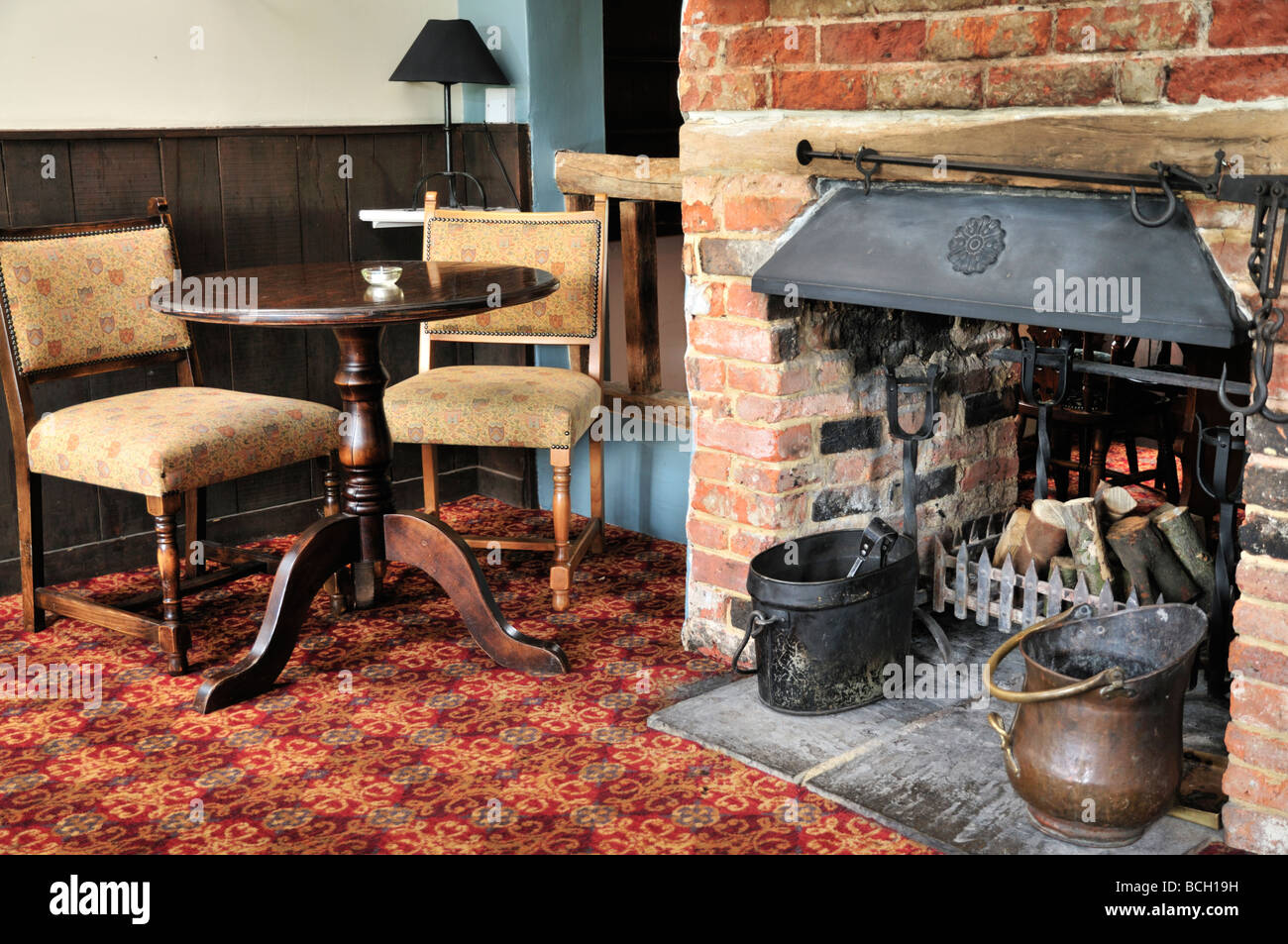 The Red Lyon Pub Restaurant, Hurley, Berkshire, UK - Stock Image