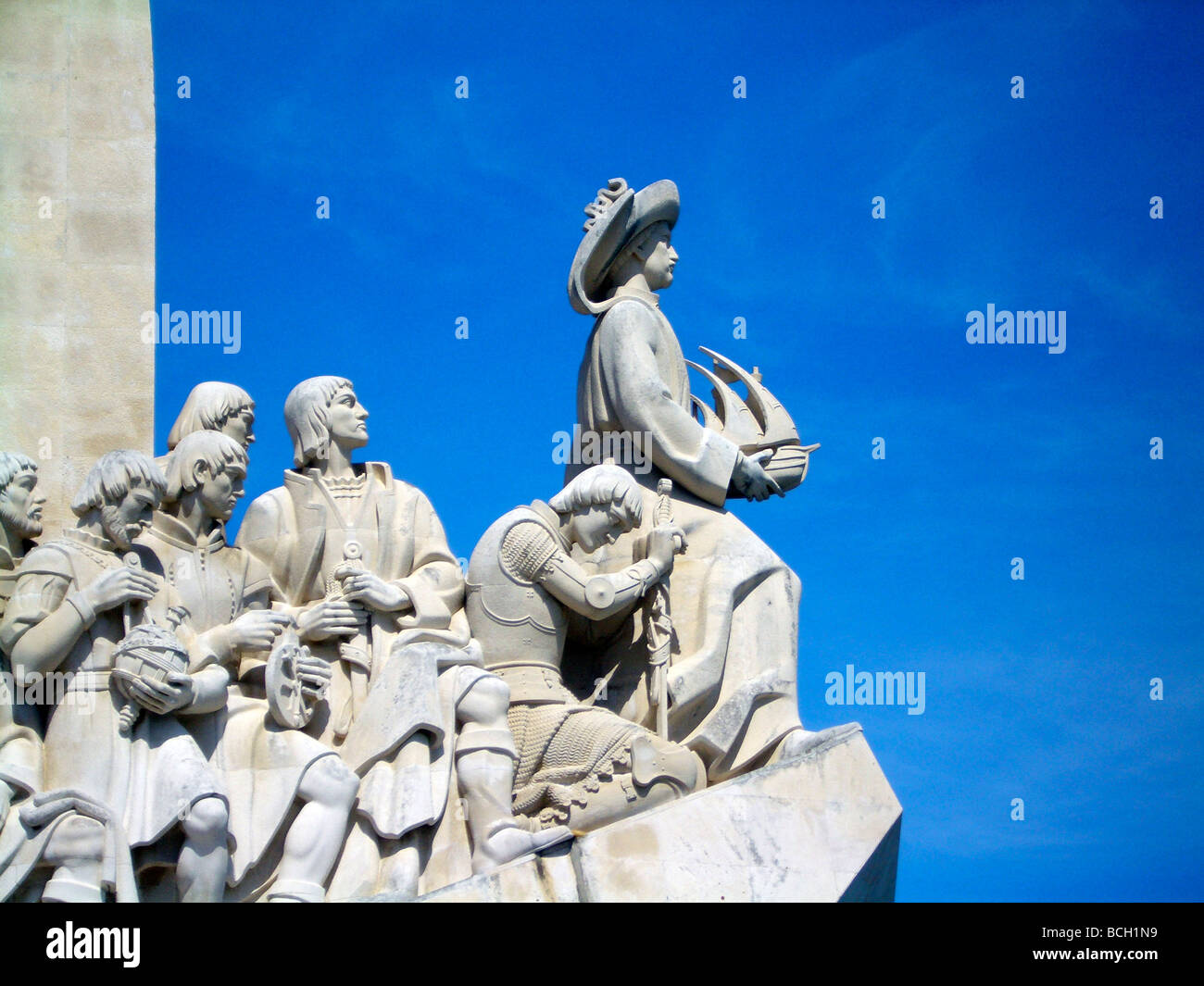 Monument to the Discoveries, Lisbon - Stock Image