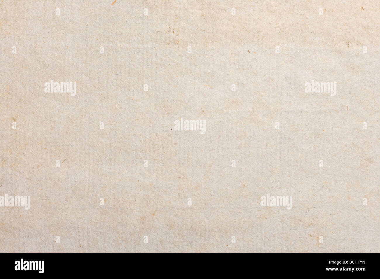 Antique Paper with texture from 1700 s close up - Stock Image