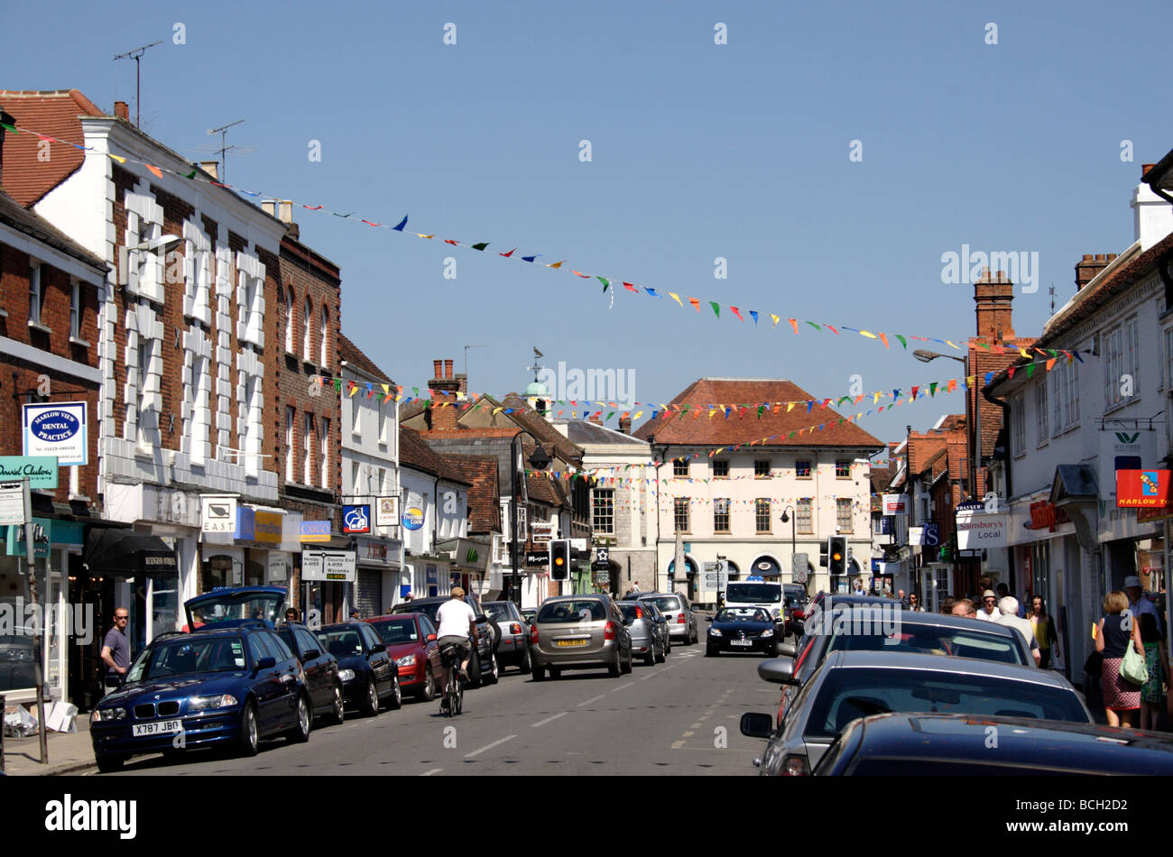 High Street Marlow Buckinghamshire May 2009 Stock Photo