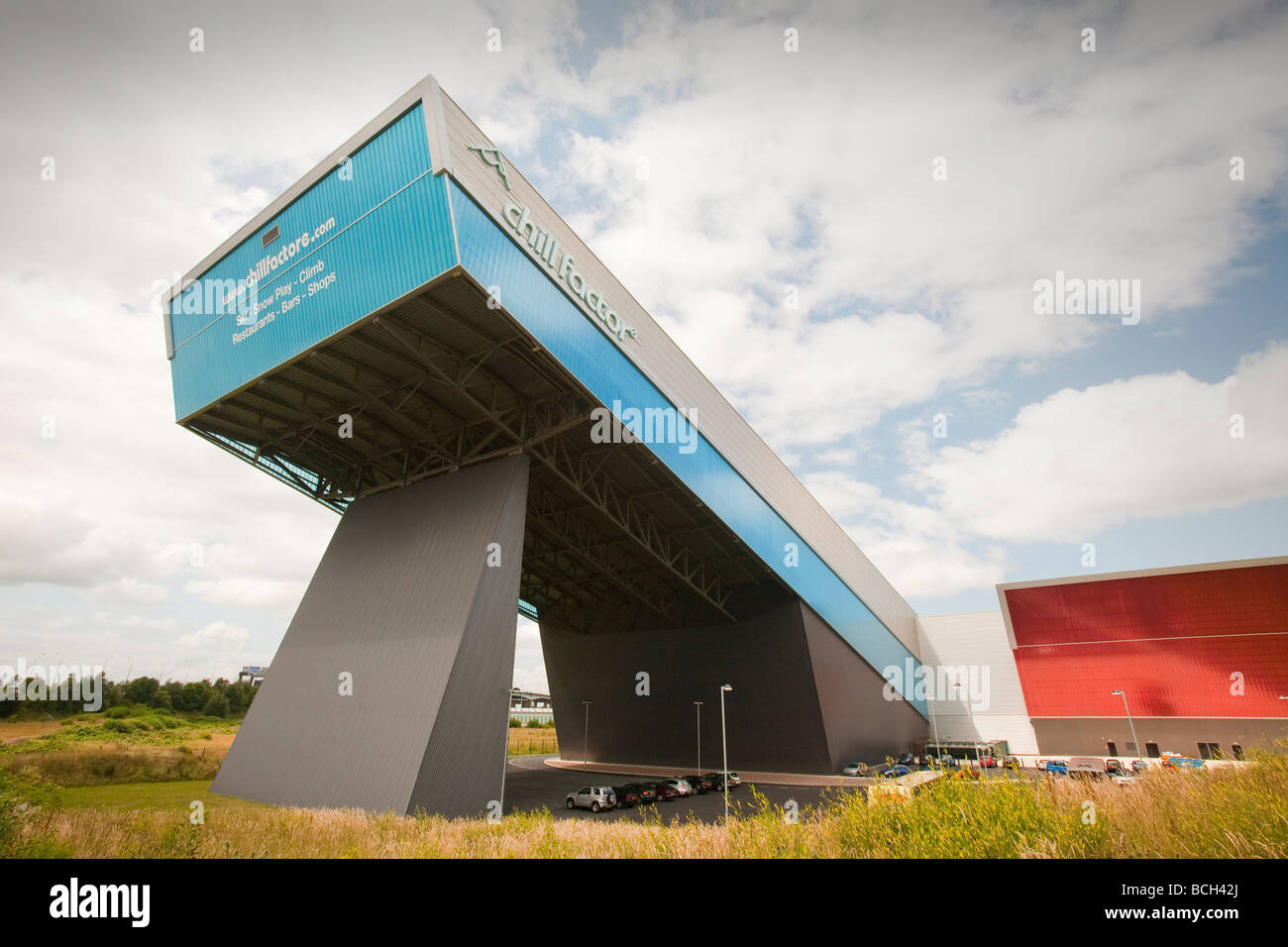 The Chill Factor an indoor skiing area in Manchester UK - Stock Image