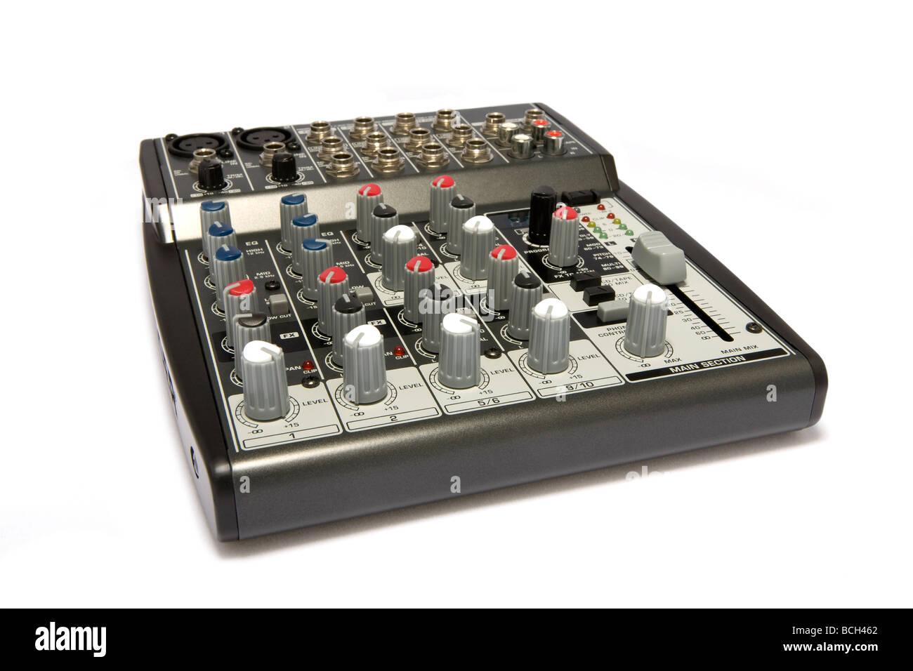 Professional Audio / Disc Jockey / Karaoke Mixer Stock Photo