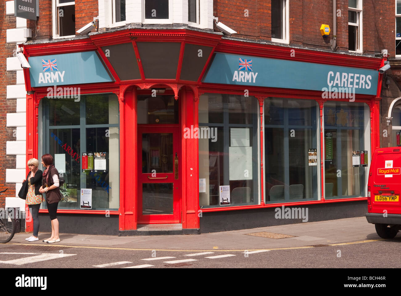 The army careers office in Norwich Norfolk Uk - Stock Image