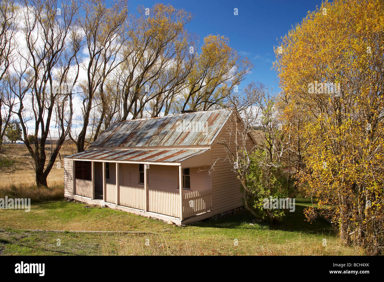 Old Miners Cottage Historic Abandoned Gold Rush Town of Kiandra Kosciuszko National Park Snowy Mountains NSW Australia - Stock Image