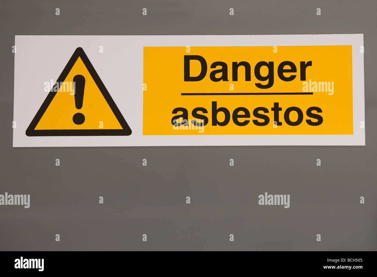 Asbestos Warning Sign - Stock Image