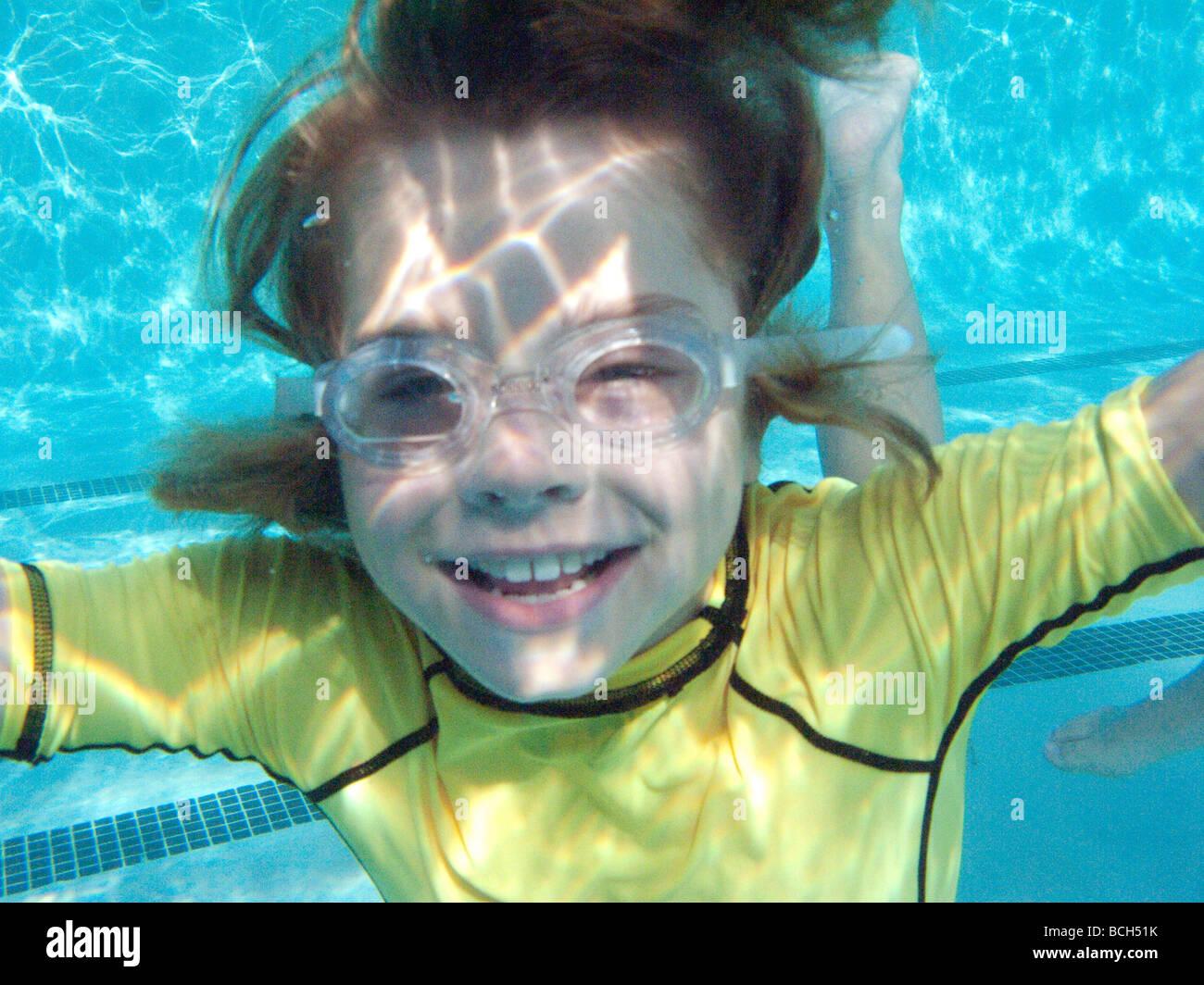 underwater pool swimming - Stock Image