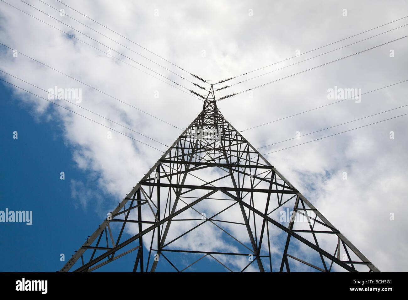 A high voltage power pylon - Stock Image