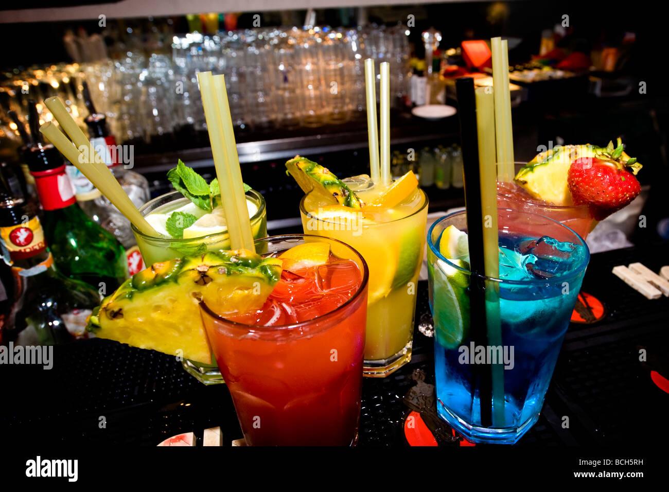 cocktails corso como milan italy - Stock Image