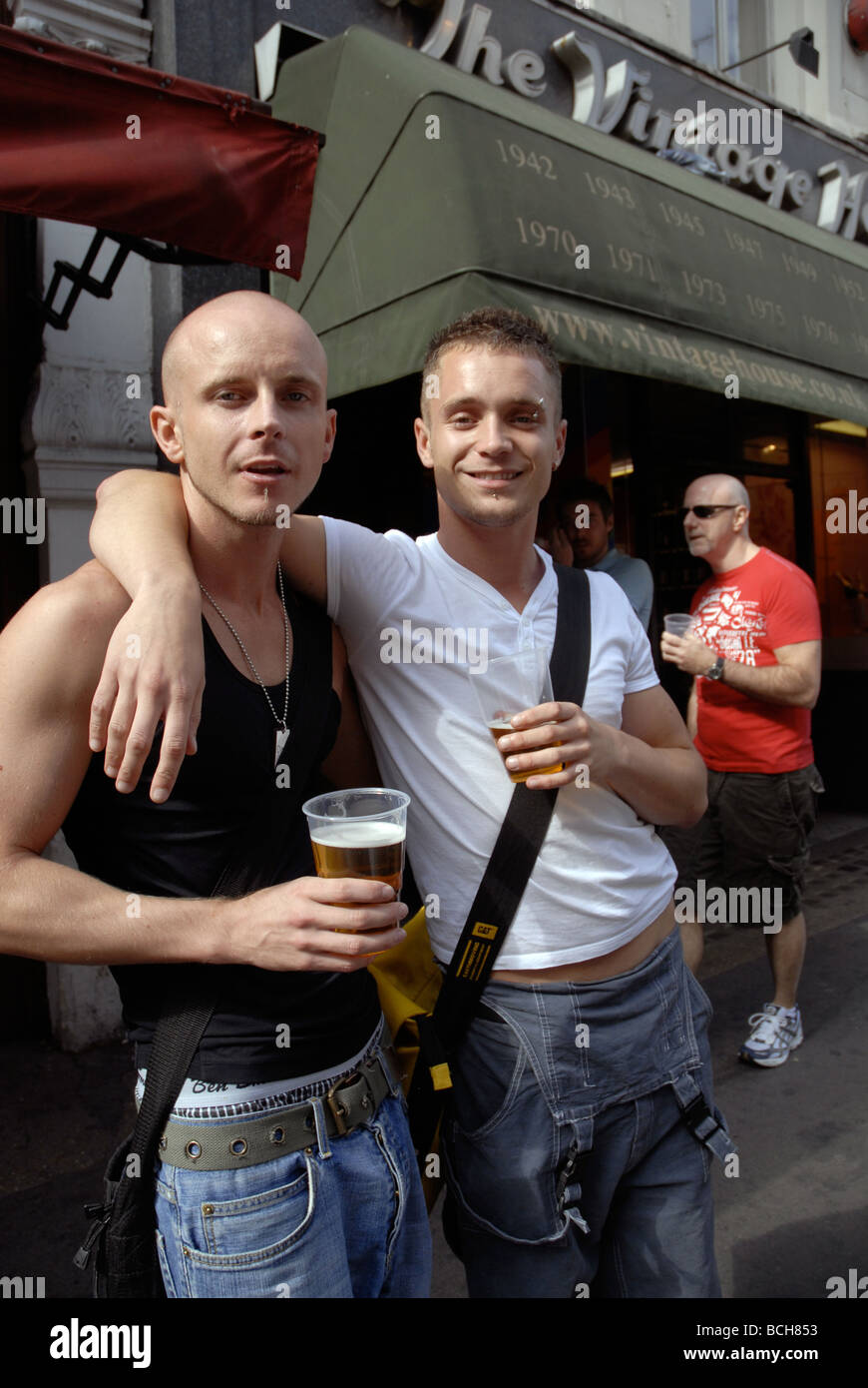 gay pubs in Soho London - Stock Image
