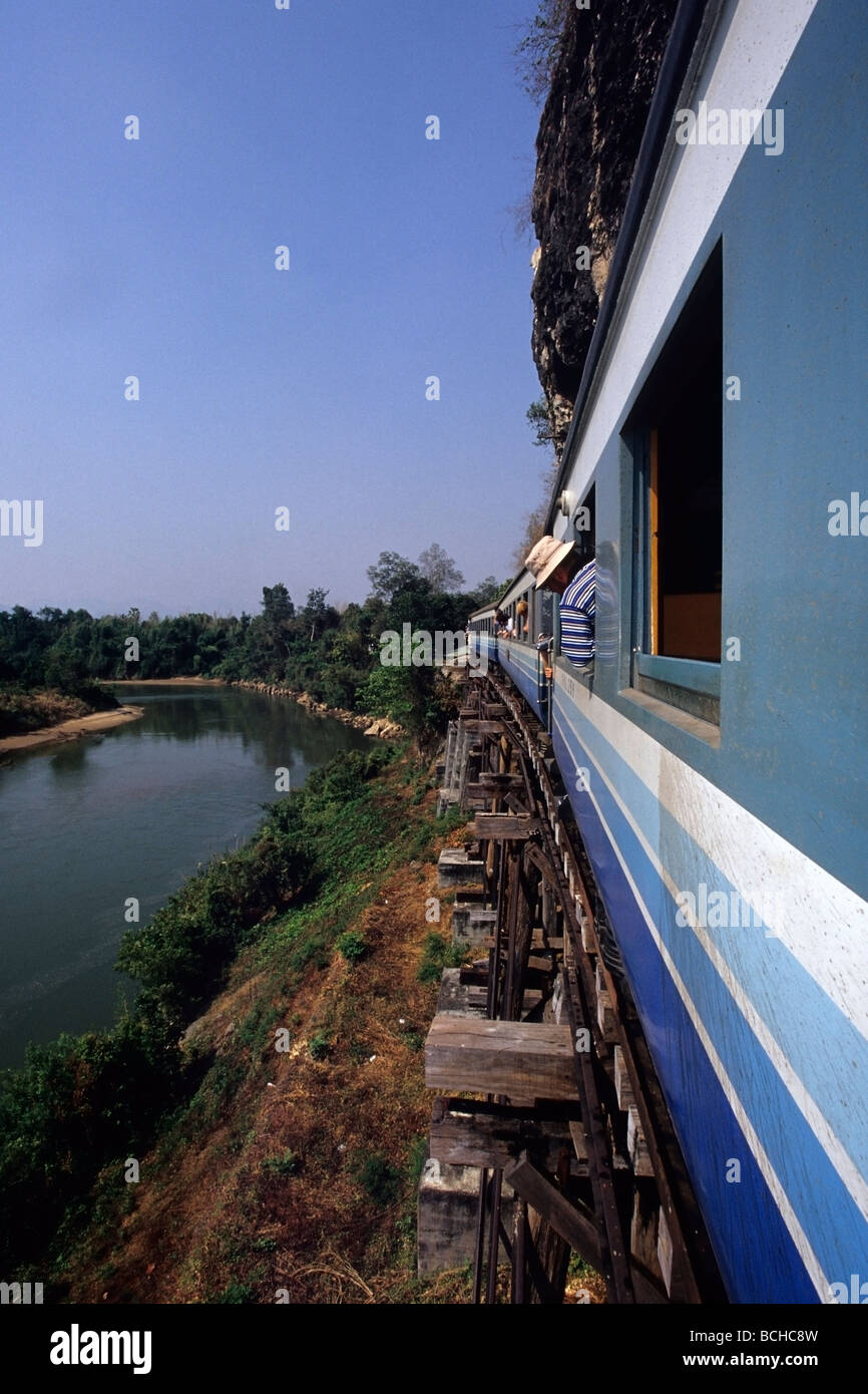 Burma Railway Death Railway at River Kwai Kanchanaburi Thailand - Stock Image