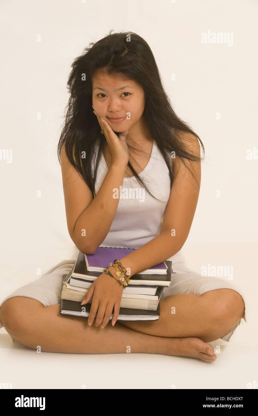 Friendly Asian High School Girl Stock Photos Friendly