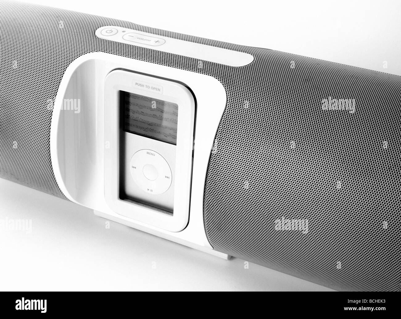 Ipod docking station stereo - Stock Image