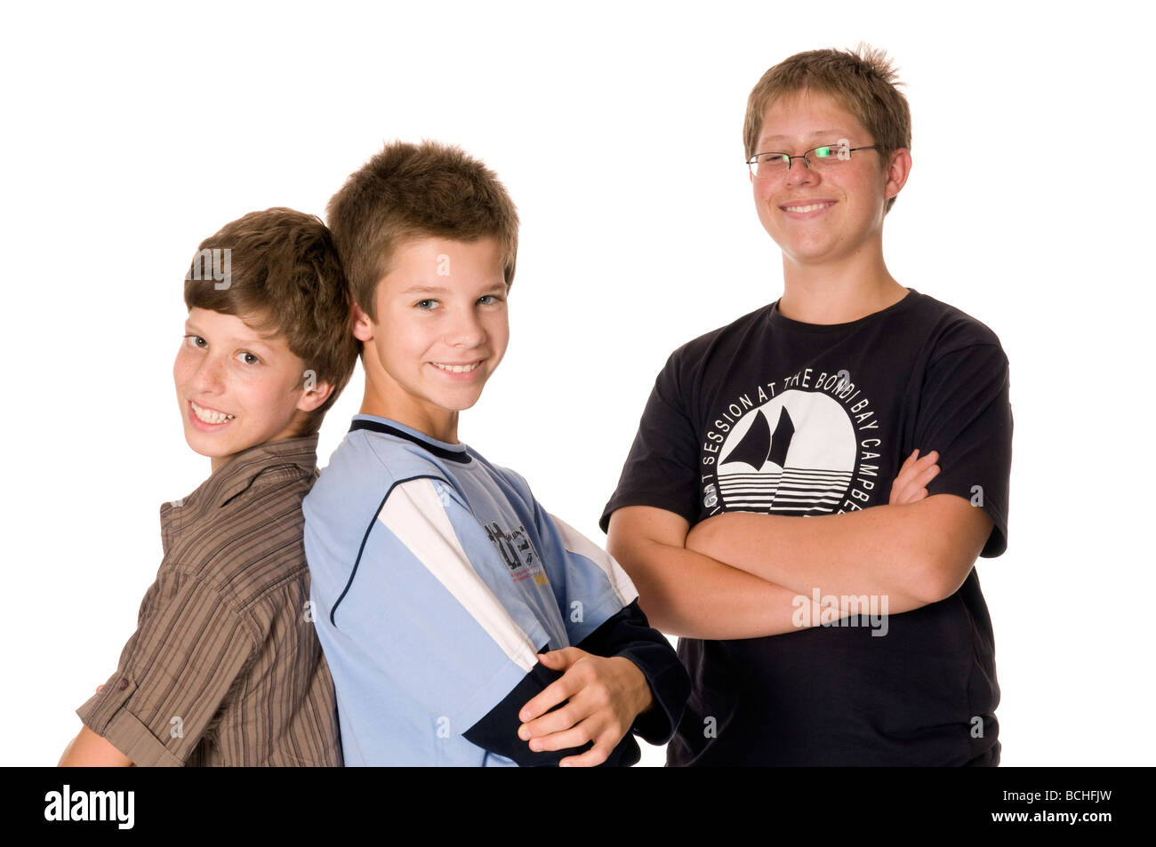 Three young boys - Stock Image