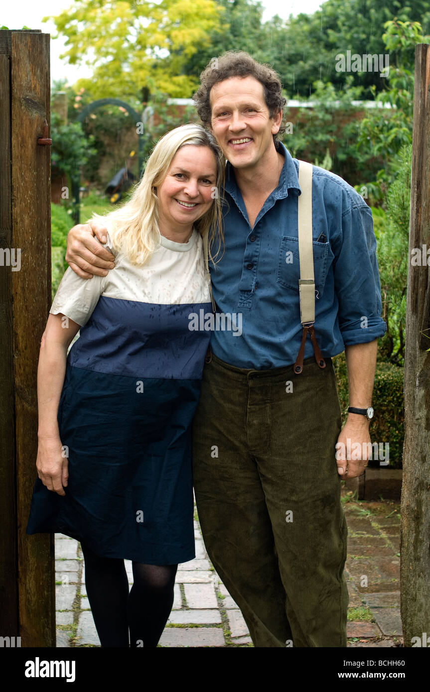 TV presenter, Organic Gardener, author and speaker on Horticulture Monty Don(b1955) and wife Sarah. - Stock Image