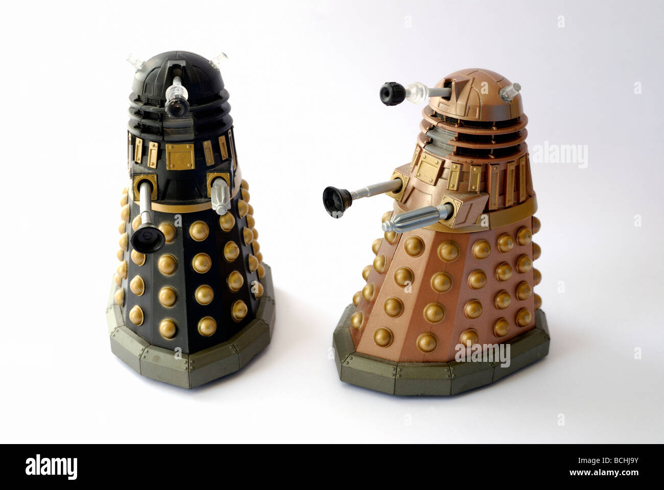 Two Dr Who Dalek toys - Stock Image