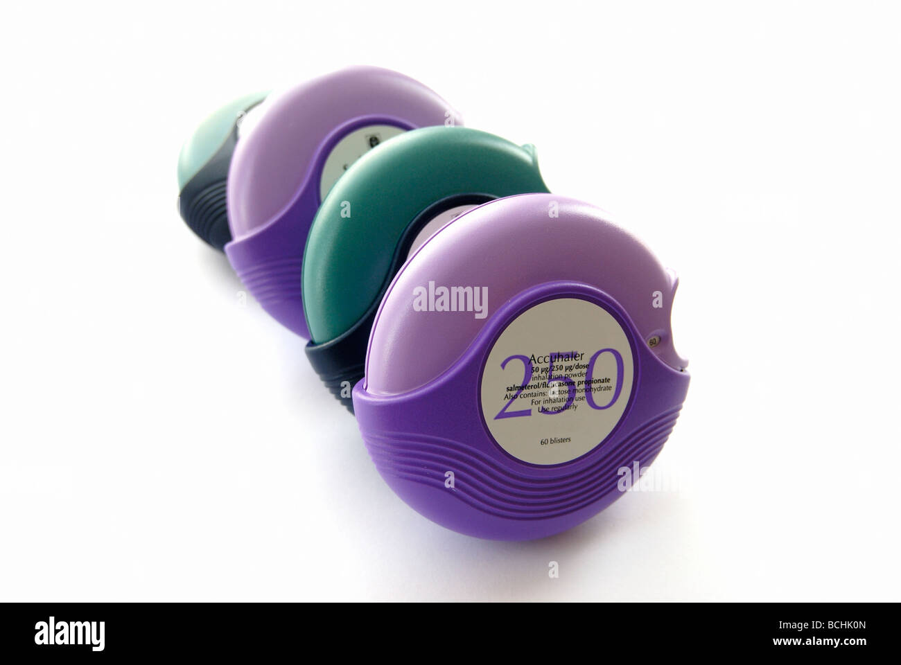 Asthma inhalers - Stock Image