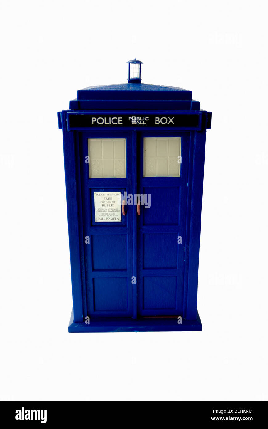 Dr Who Tardis toy - Stock Image