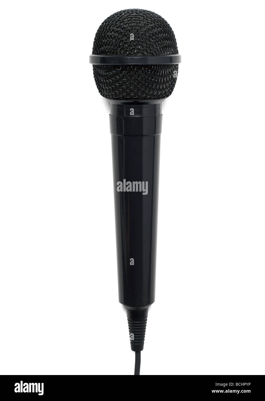 Microphone on white background - Stock Image