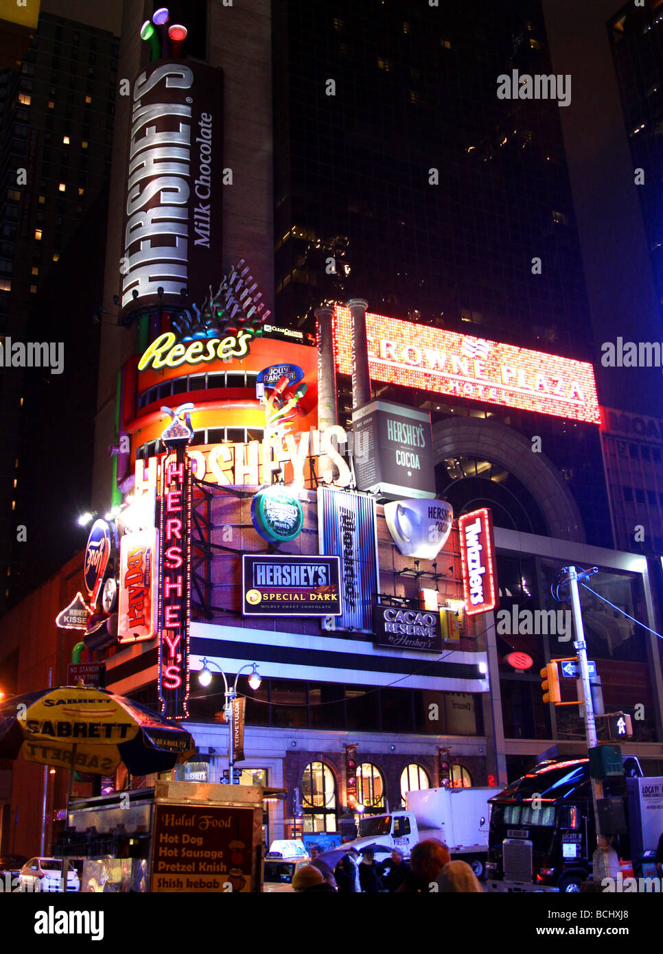 Times Square, New York At Night Time