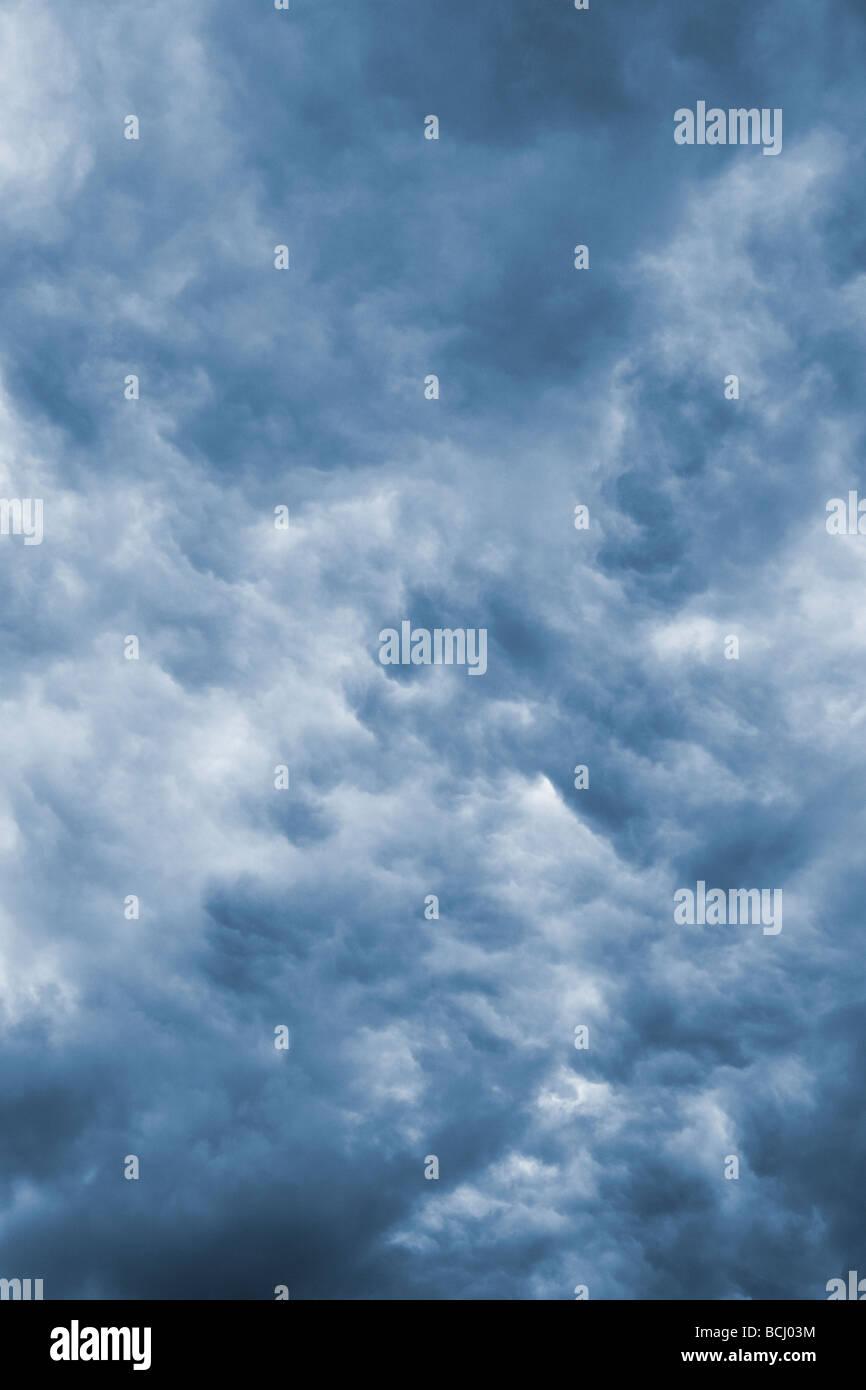 Cloud Cover - Cyanotype - Stock Image