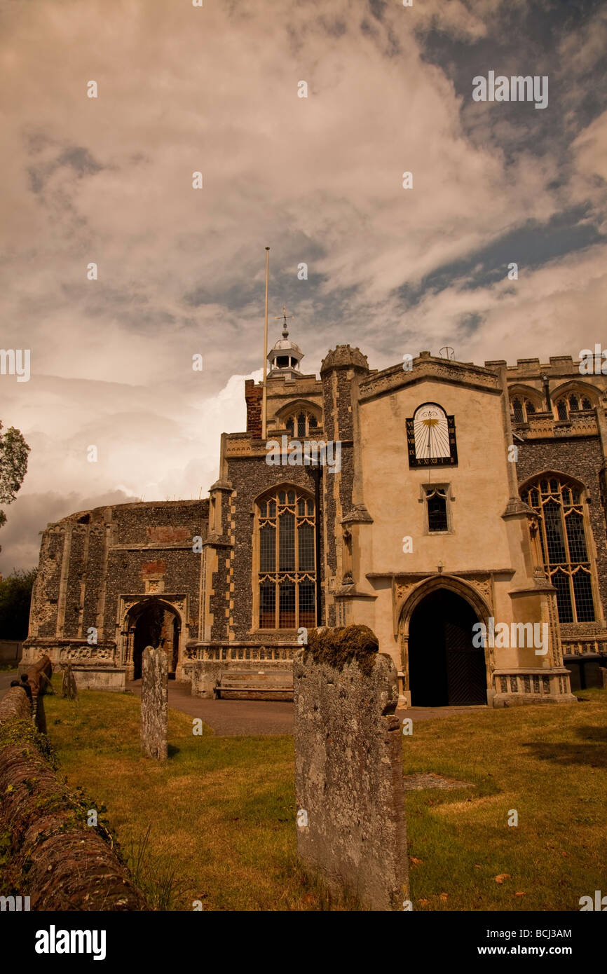 The Church of St.Mary the Virgin,East Bergholt,Suffolk,England - Stock Image