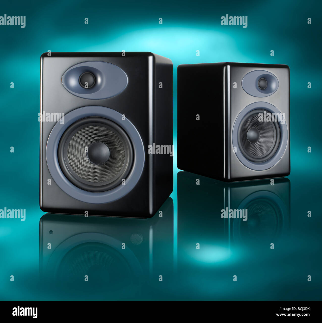 Home Audio Loud speakers square - Stock Image