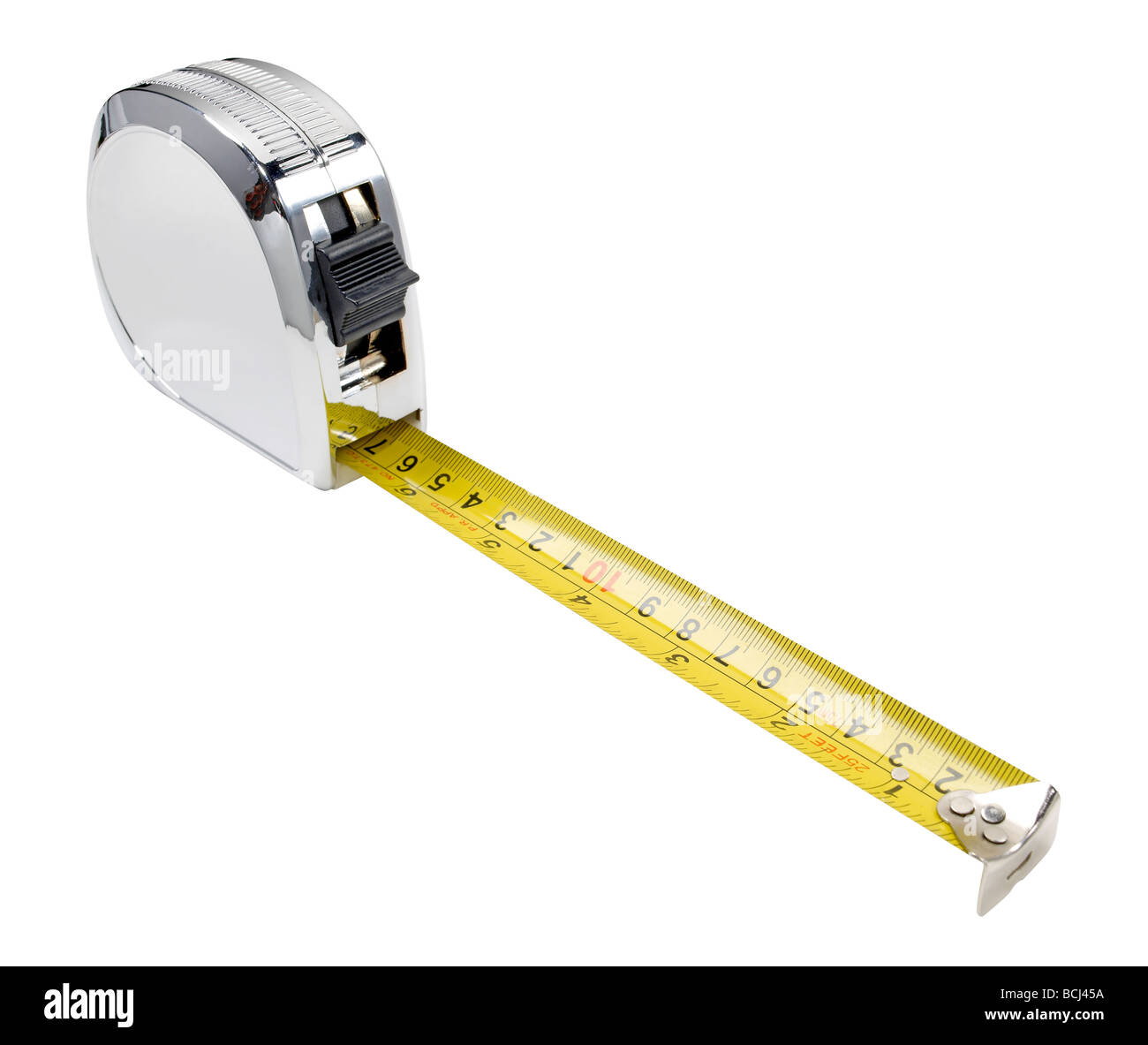 Retractable tape measure - Stock Image